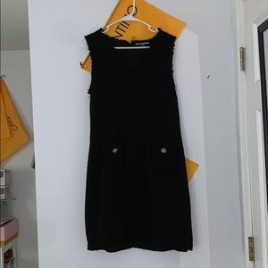 karl lagerfeld black dress